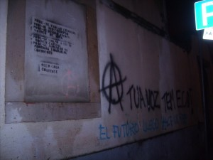 Graffiti anarchiste à Lisbonne